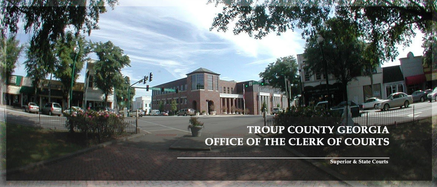 Image:View of Troup County Government Center, Troup County Clerk of Courts from Downtown LaGrange, GA's Lafayette Square (&copy Coldwell Banker Spinks Brown Durand Realtors)
